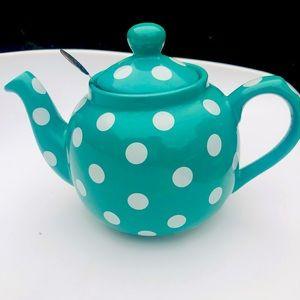London Pottery Green Spot filter Tea Pot ~Cute 🥰